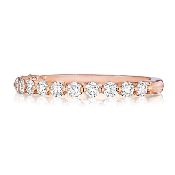 Henri Daussi Rose Gold Diamond Wedding Band Image 2 Bremer Jewelry Peoria, IL