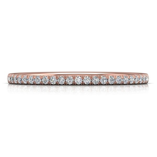 Straight Diamond Wedding Band in Rose Gold (1/5 ctw) Bremer Jewelry Peoria, IL