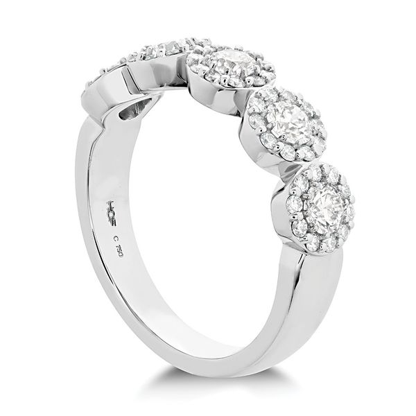 Hearts On Fire Fulfillment Five-Stone Diamond Fashion Ring in White Gold Image 2 Bremer Jewelry Peoria, IL