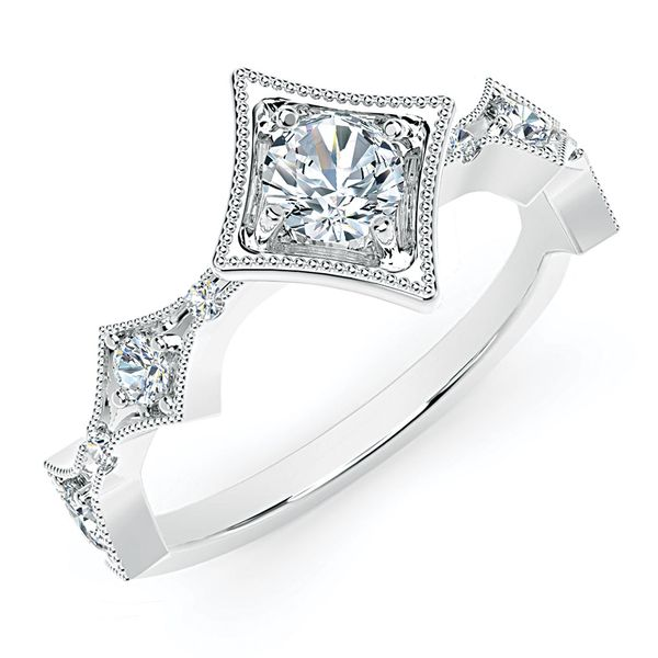 Forevermark Tribute 18k White Gold Diamond Fashion Ring Image 2 Bremer Jewelry Peoria, IL