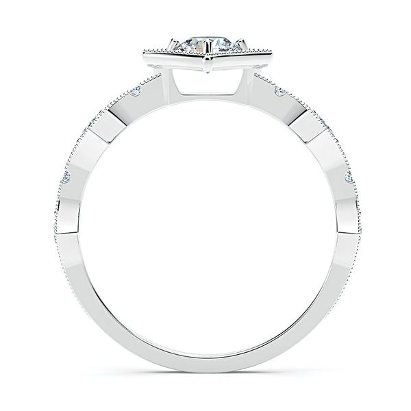 Forevermark Tribute 18k White Gold Diamond Fashion Ring Image 3 Bremer Jewelry Peoria, IL