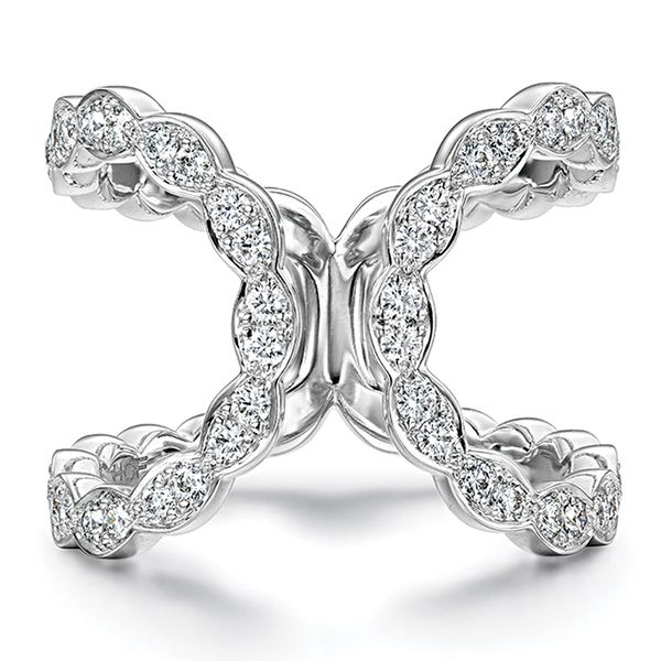 Hearts On Fire Lorelei Floral White Gold Diamond Fashion Ring Bremer Jewelry Peoria, IL