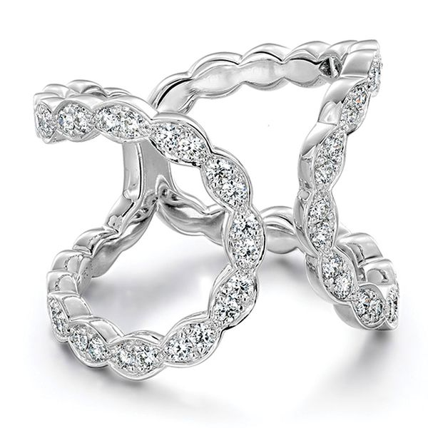 Hearts On Fire Lorelei Floral White Gold Diamond Fashion Ring Image 2 Bremer Jewelry Peoria, IL
