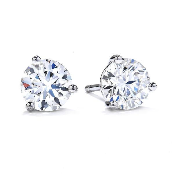 Hearts On Fire Diamond Stud Earrings in White Gold Bremer Jewelry Peoria, IL
