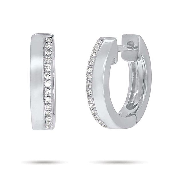 By My Side Diamond Hoop Earrings in White Gold Bremer Jewelry Peoria, IL