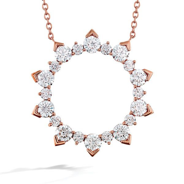 Hearts On Fire Aerial Rose Gold Diamond Necklace Bremer Jewelry Peoria, IL