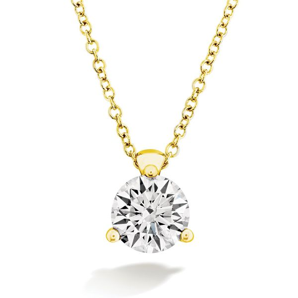 Hearts On Fire Classic Yellow Gold Diamond Necklace Bremer Jewelry Peoria, IL