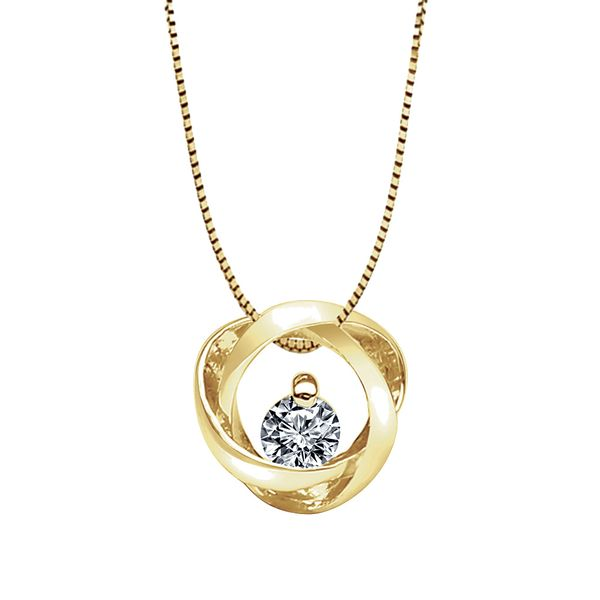 Bremer Jewelry Time & Eternity Yellow Gold Diamond Necklace Bremer Jewelry Peoria, IL
