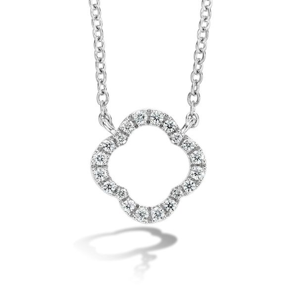 Hearts On Fire Signature Petal Necklace in White Gold Bremer Jewelry Peoria, IL
