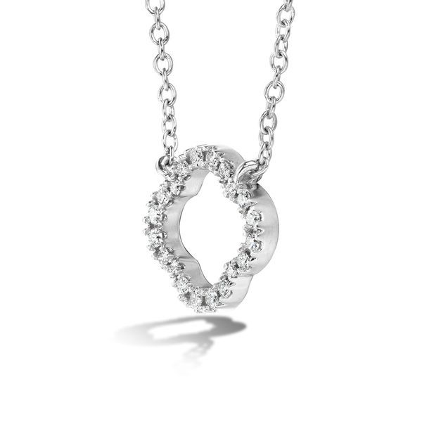 Hearts On Fire Signature Petal Necklace in White Gold Image 2 Bremer Jewelry Peoria, IL