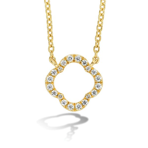 Hearts On Fire Signature Petal Necklace in Yellow Gold Bremer Jewelry Peoria, IL