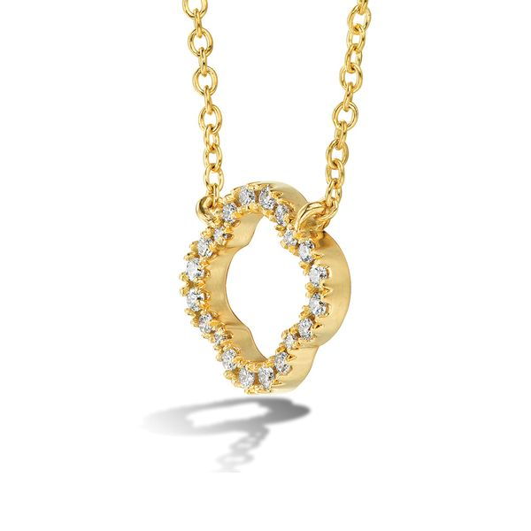 Hearts On Fire Signature Petal Necklace in Yellow Gold Image 2 Bremer Jewelry Peoria, IL