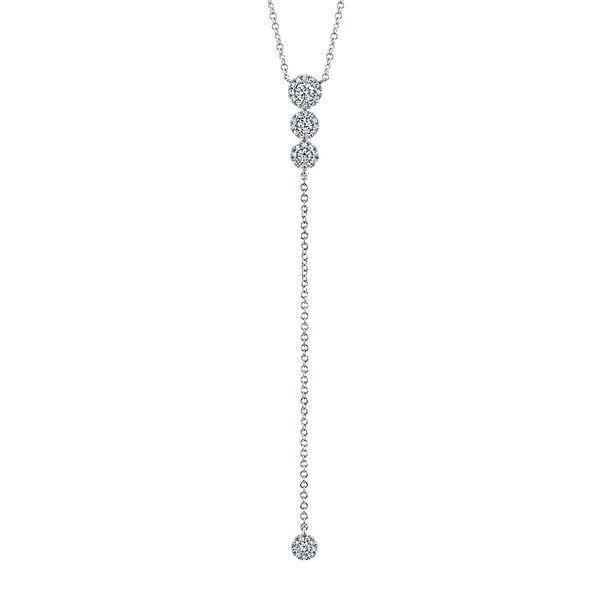Center Of My World Diamond Lariat Necklace in White Gold Bremer Jewelry Peoria, IL