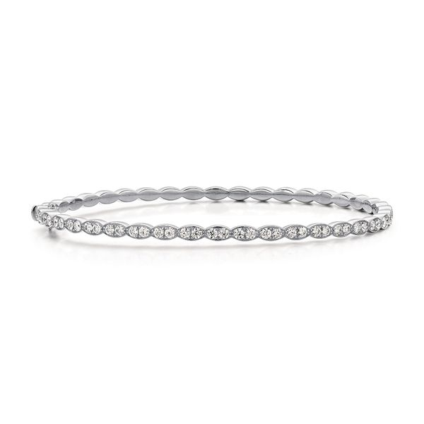 Hearts On Fire Lorelei Floral White Gold Diamond Bracelet Bremer Jewelry Peoria, IL