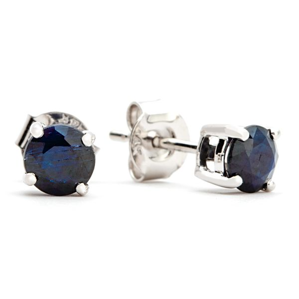 BeColorful Sapphire Stud Earrings in White Gold Bremer Jewelry Peoria, IL