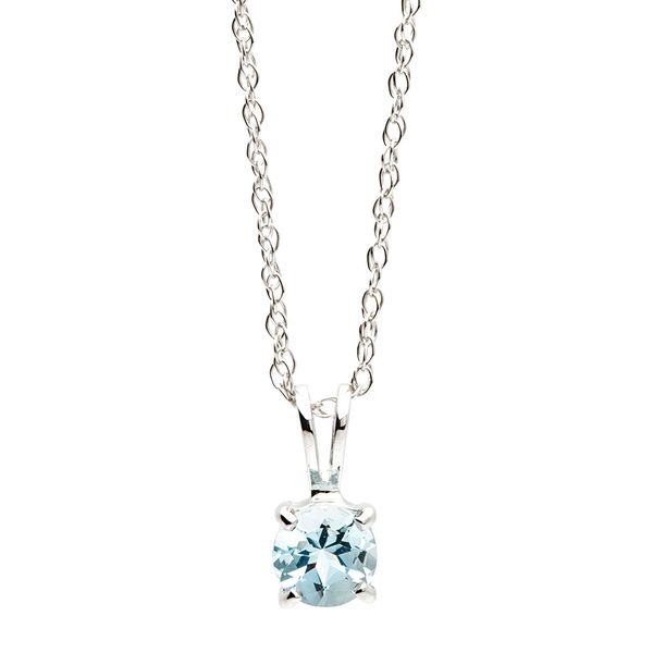 Bremer Jewelry BeColorful White Gold Aqua Marine Necklace Bremer Jewelry Peoria, IL