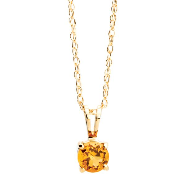 Bremer Jewelry BeColorful Yellow Gold Citrine Necklace Bremer Jewelry Peoria, IL