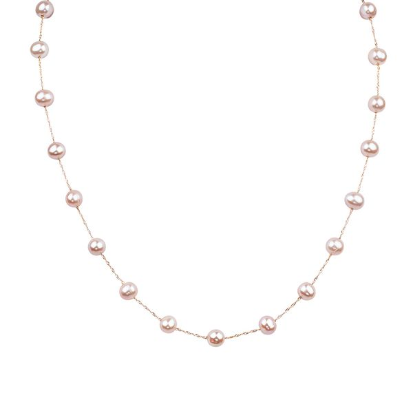Bremer Jewelry Basics Rose Gold Pearl Necklace Bremer Jewelry Peoria, IL
