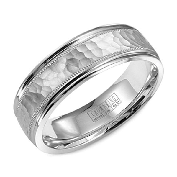 CrownRing Lite White Gold Mens Wedding Band Bremer Jewelry Peoria, IL