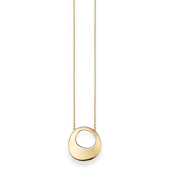 You Are My Sunshine Open Pebble Necklace in Yellow Gold Bremer Jewelry Peoria, IL