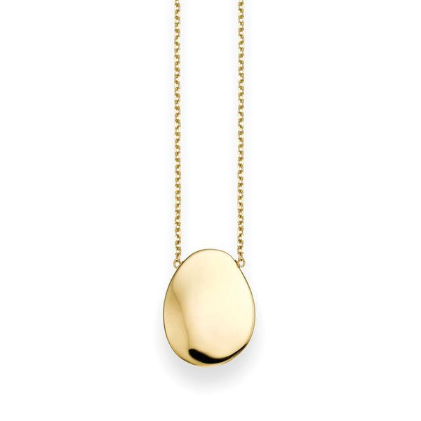You Are My Sunshine Pebble Necklace in Yellow Gold Bremer Jewelry Peoria, IL