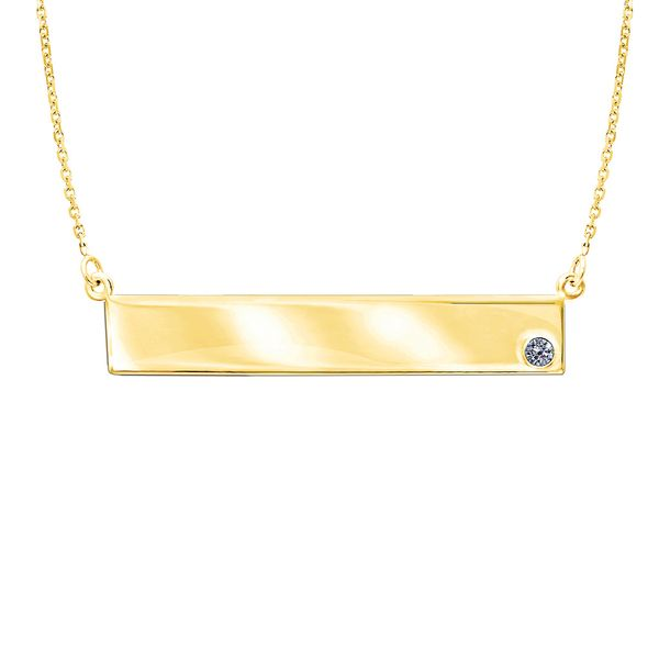 Bremer Jewelry Basics Yellow Gold Diamond Necklace Bremer Jewelry Peoria, IL