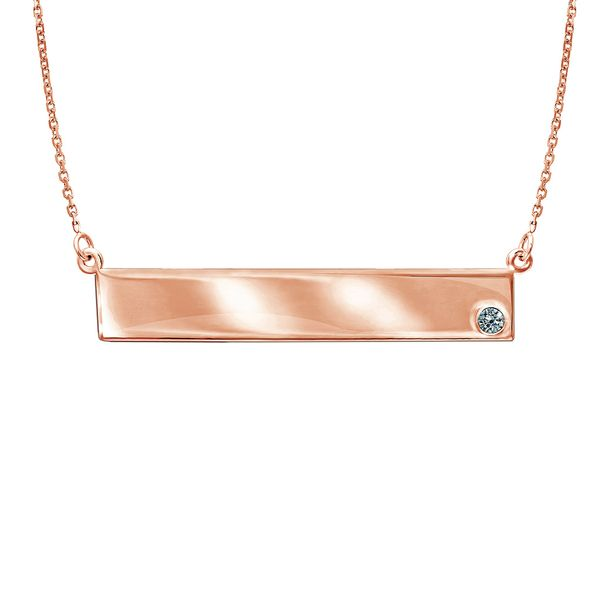 Bremer Jewelry Rose Gold Diamond Necklace Bremer Jewelry Peoria, IL