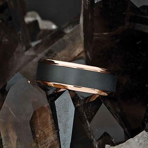 Elysium Two-Tone Wedding Band Image 3 Bremer Jewelry Peoria, IL