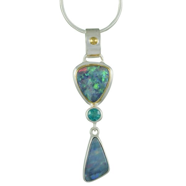 Opals and Paraiba Topaz Michou Necklace Clater Jewelers Louisville, KY