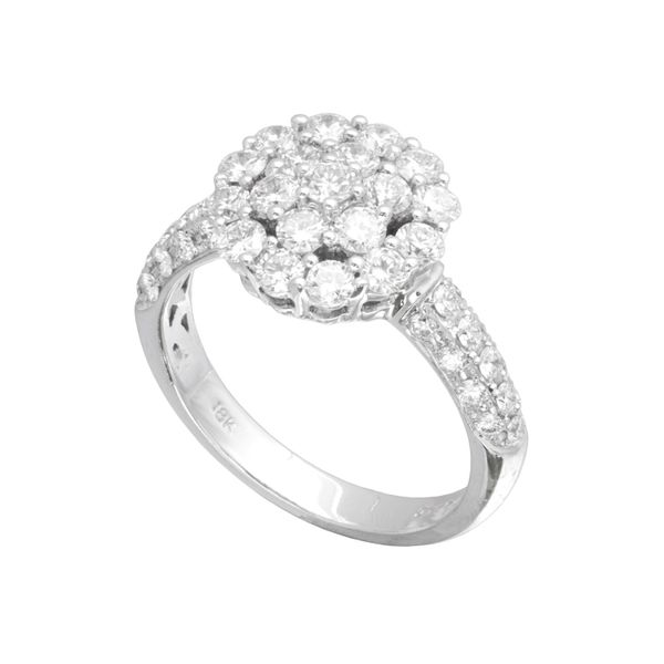 Diamond Cluster Engagement Ring 1.48ctw Clater Jewelers Louisville, KY