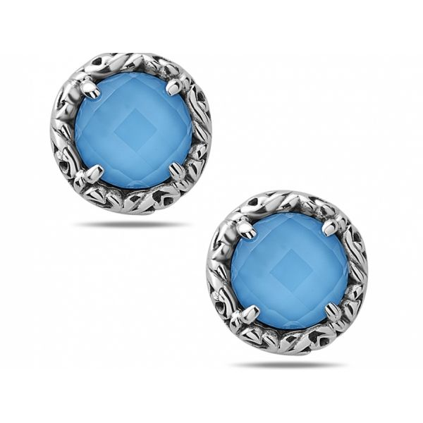 "Charles Krypell  ""Skye"" Turquoise Earrings Skaneateles Jewelry Skaneateles, NY"
