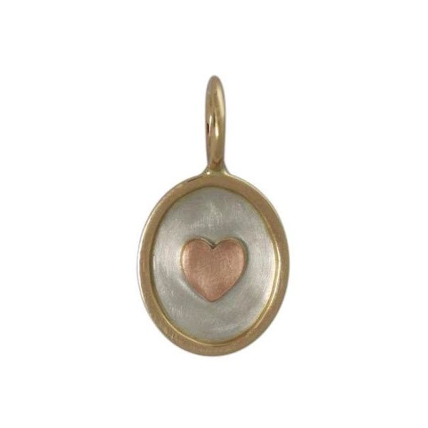 Heather Moore Tri-Color Heart Charm Skaneateles Jewelry Skaneateles, NY
