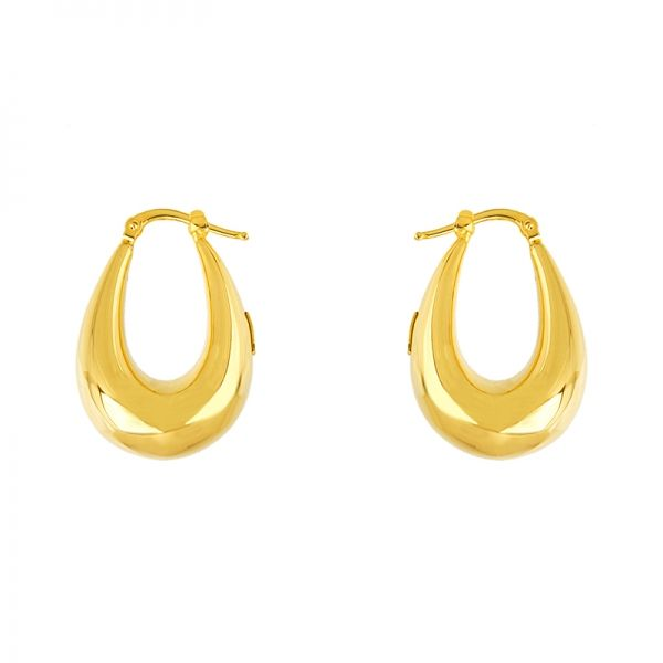 Next Generation Gold Hoop Earrings Image 3 Skaneateles Jewelry Skaneateles, NY
