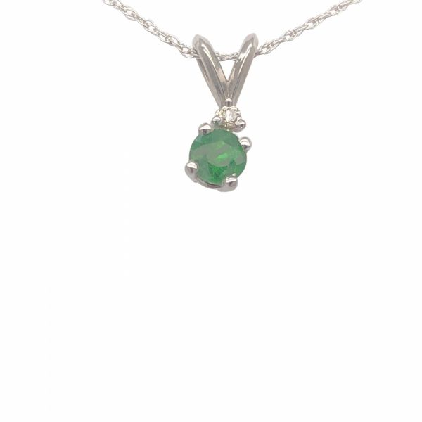 Next Generation Tsavorite Garnet and Diamond Pendant w/Chain Skaneateles Jewelry Skaneateles, NY