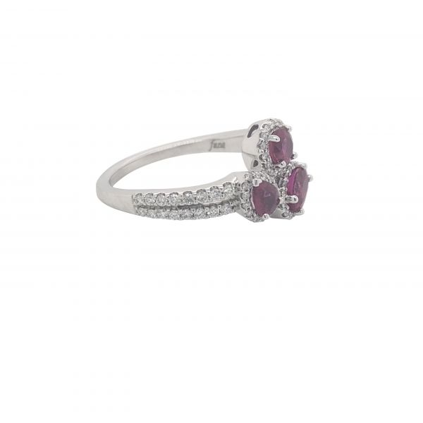 14K WG Next Generation Ruby & Diamond Fashion Ring Image 2 Skaneateles Jewelry Skaneateles, NY
