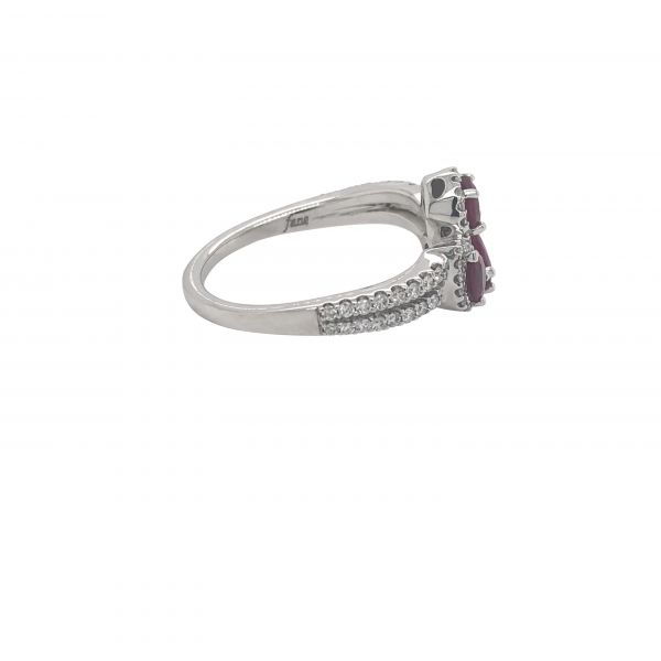 14K WG Next Generation Ruby & Diamond Fashion Ring Image 3 Skaneateles Jewelry Skaneateles, NY