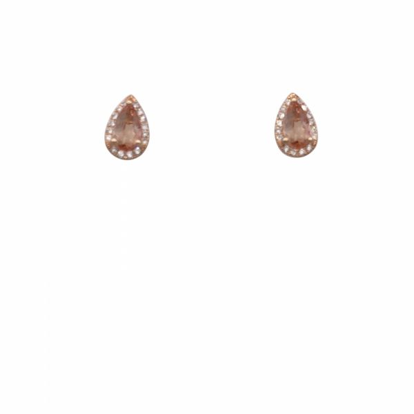 366a42b6bb75f 14K RG Next Generation Imperial Topaz and Diamond Earrings