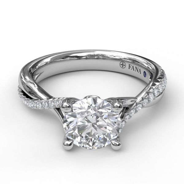 Next Generation Diamond Twist Engagement Ring Image 2  ,