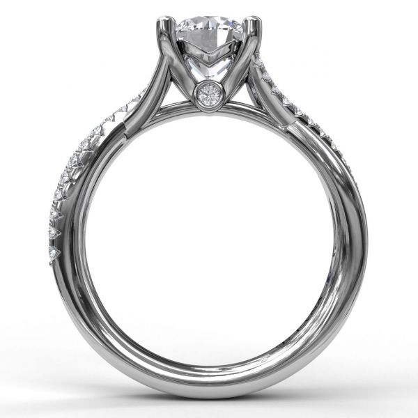 Next Generation Diamond Twist Engagement Ring Image 3  ,