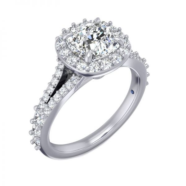 Next Generation Halo Engagement Ring Image 3  ,