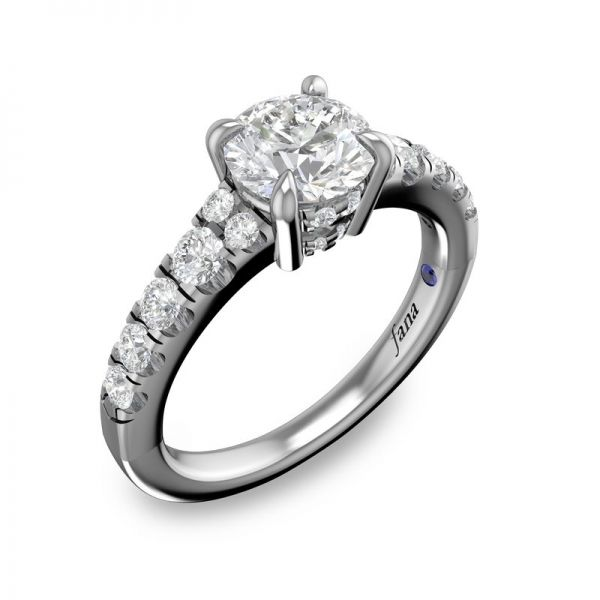 Next Generation Cathedral Engagement Ring Image 2 Skaneateles Jewelry Skaneateles, NY