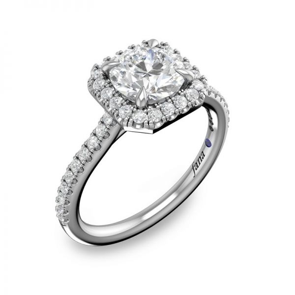 Next Generation Cushion Halo Engagement Ring Image 2 Skaneateles Jewelry Skaneateles, NY