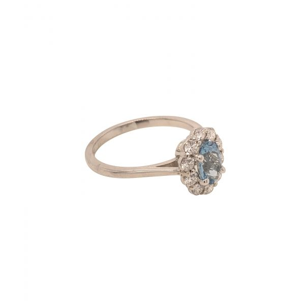 Next Generation Aquamarine and Diamond Ring Image 2  ,