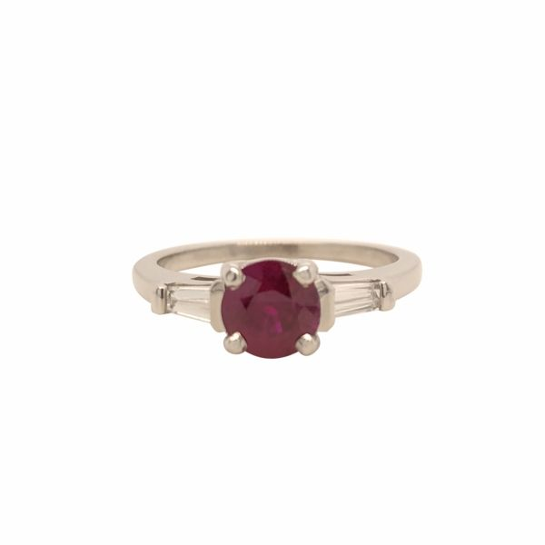 14K WG Ruby and Diamond Ring 1.19ct TW Skaneateles Jewelry Skaneateles, NY