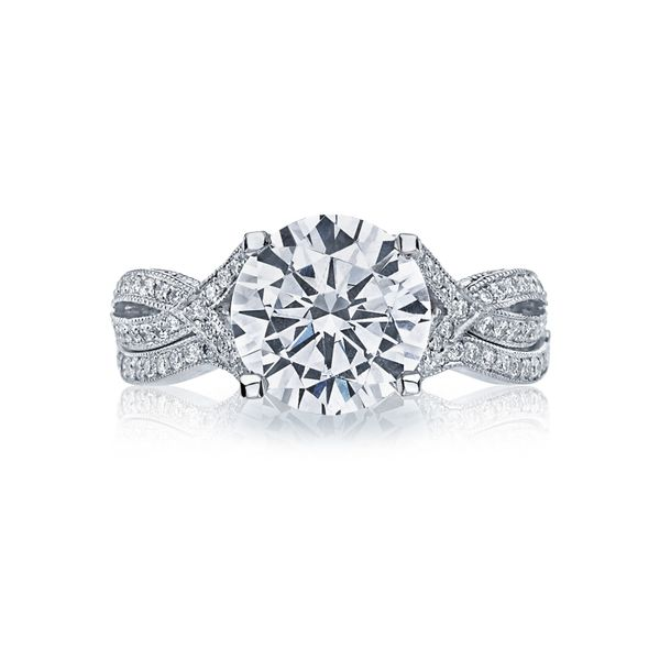 Tacori Ribbon Round Engagement Ring Image 3 Skaneateles Jewelry Skaneateles, NY