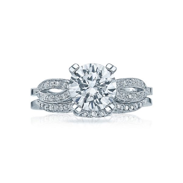 Tacori Ribbon Round Engagement Ring Image 3  ,