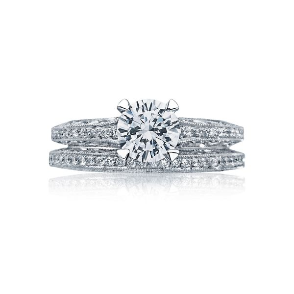 Tacori Classic Crescent Round Engagement Ring Image 3 Skaneateles Jewelry Skaneateles, NY