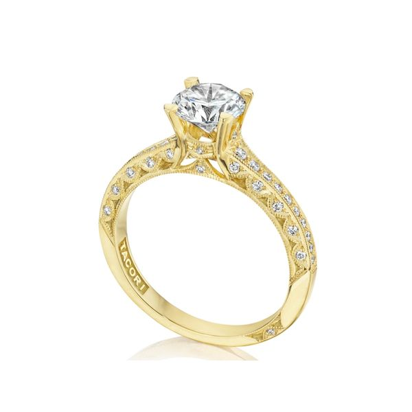 Tacori Classic Crescent Round Engagement Ring Image 4 Skaneateles Jewelry Skaneateles, NY