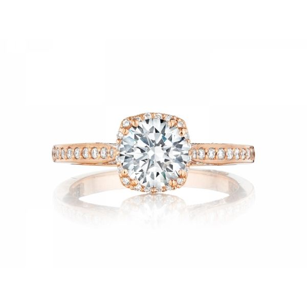 Rose Gold Wedding Ring.Tacori Round Dantela Rose Gold Engagement Ring