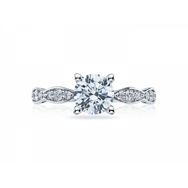Tacori Sculpted Crescent Round Engagement Ring Skaneateles Jewelry Skaneateles, NY